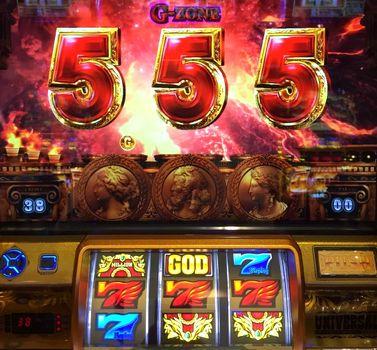 ミリオンゴッド 神々の凱旋 G-ZONE 中段赤7