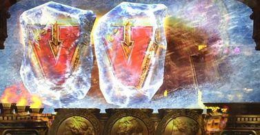ミリオンゴッド 神々の凱旋 V図柄 凍結 氷