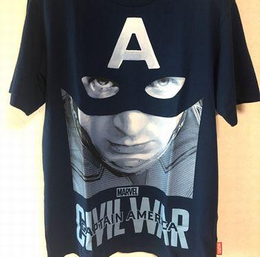 ユニクロ Tシャツ マーベル キャプテンアメリカ