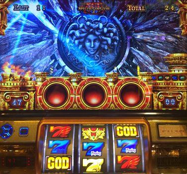 ミリオンゴッド 神々の凱旋 メデューサモード中 中段青7