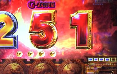 ミリオンゴッド 神々の凱旋 G-ZONE 青7の4連