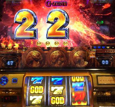 ミリオンゴッド 神々の凱旋 G-ZONE青7の3連後 青7上段テンパイ