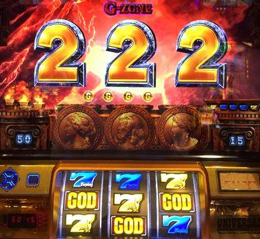 ミリオンゴッド 神々の凱旋 G-ZONE青7の3連後黄7