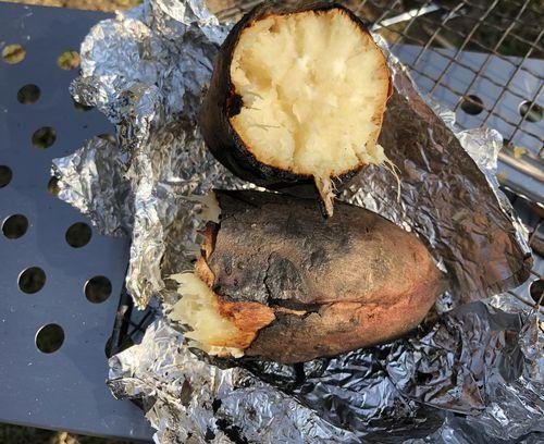 焚き火 焼き芋
