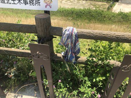 京都府八幡市 流れ橋(上津屋橋) 自転車スタンド